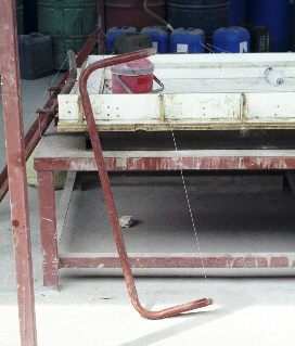 Wire Cutter for cutting foamed concrete blocks