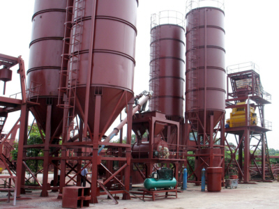 Silos containing raw materials for making foamed concrete