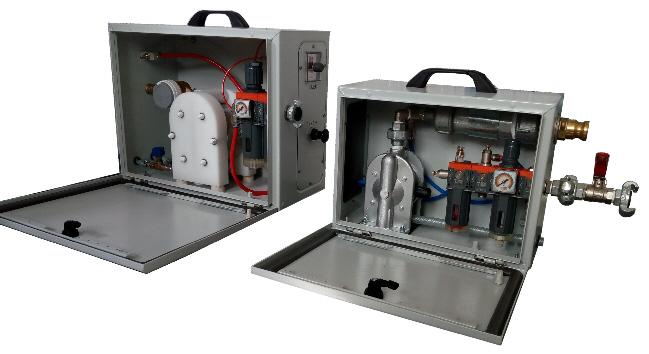 Photograph of the EABASSOC Regular and Junior Foam Generators