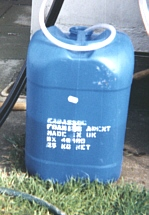 A 25 kg drum of EABASSOC Foaming Agent which is used to make EABASSOC Lightweight Foamed Concrete