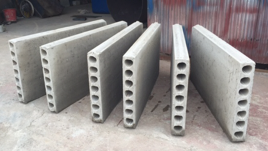 Foamed concrete hollow core panels for building walls for Cement foam blocks